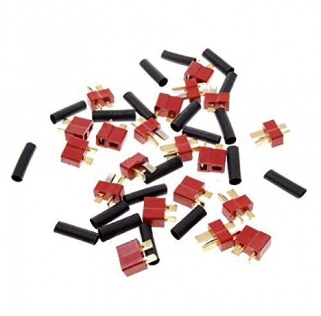 10 Pairs Red Ultra T Plug Connectors