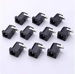 3Pin Black DC Power Jack Socket Connector