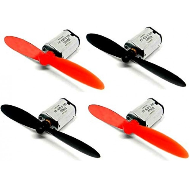 4 Pieces of DC 3.7V Micro Coreless Motor with 4 propeller