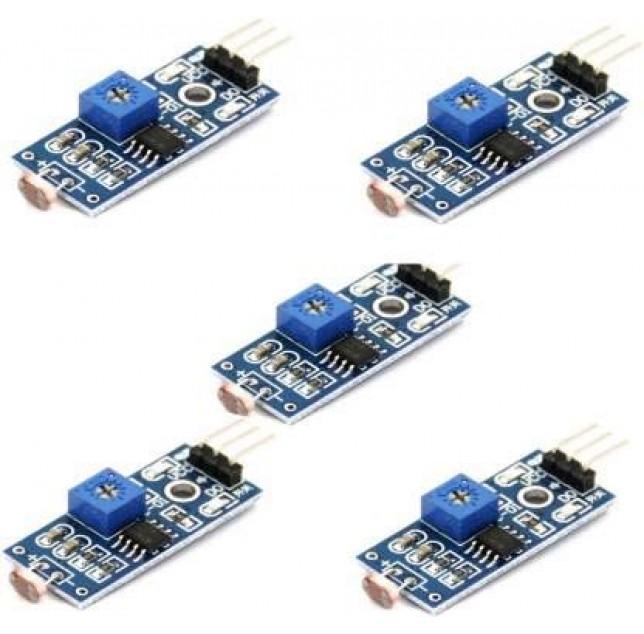 5 Pcs X Lm393 Optical Photosensitive Ldr Light Sensor Module